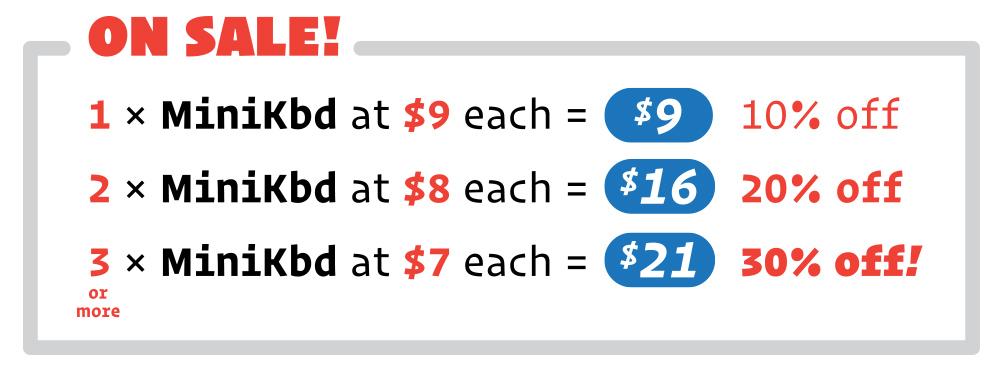 Sale pricing